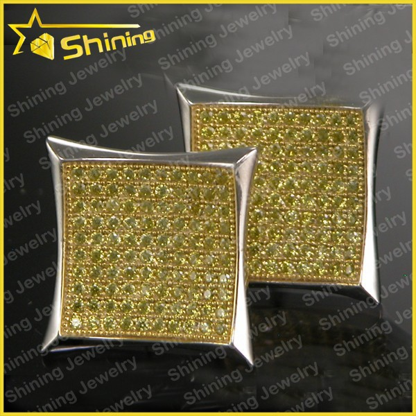 aaa yellow cz micro pave iced out jewelry wholesale
