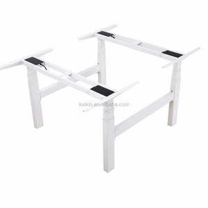 Awesome Qjb406 4 Lifting Column 3 Stages 2 Person Standing Desk Set Uwap Interior Chair Design Uwaporg