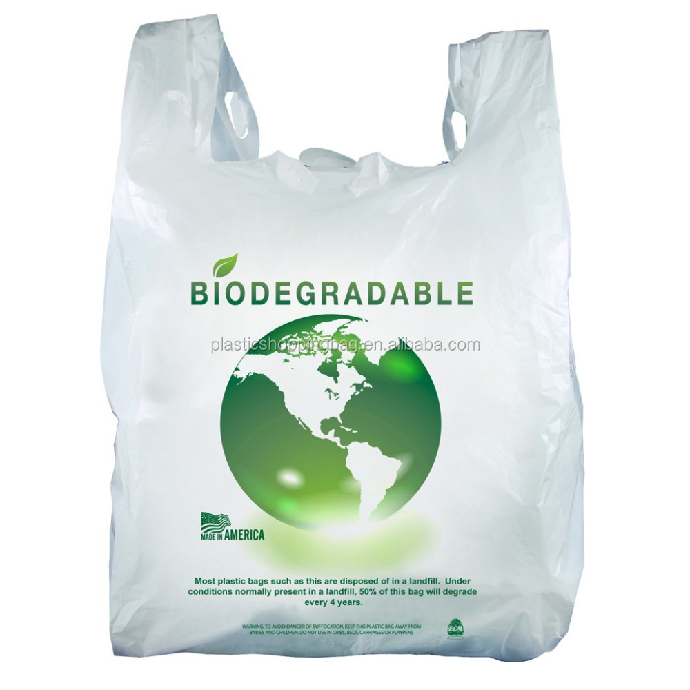 100 Biodegradable Plastic Bags Bag Custom Printed Ping Product On Alibaba