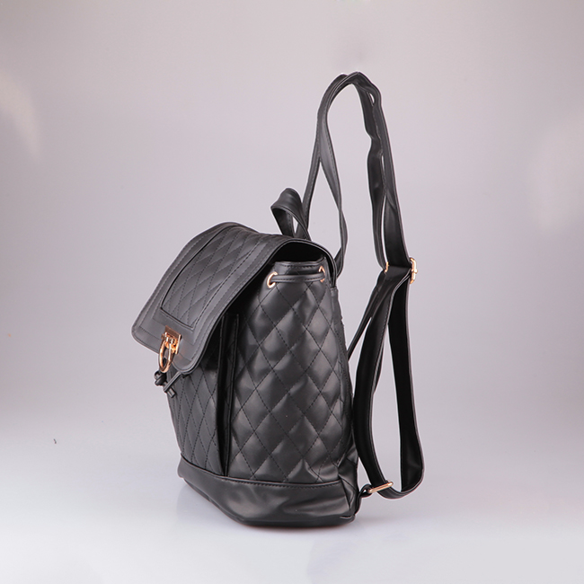 4807 2018 Summer Korean Fashion Style Quilted waterproof drawstring genuine Leather Backpack bag oem