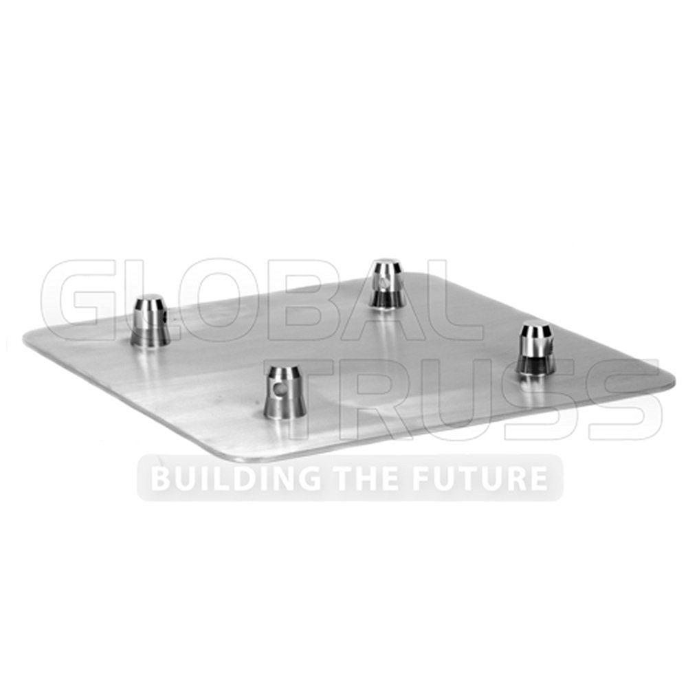 Square//Triangular Truss Base Plate Steel GLOBAL TRUSS BASEPLATE2.2S 2 x 2 Ft