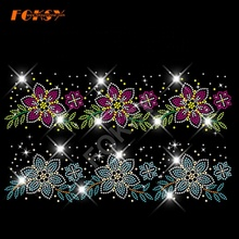 Großhandel Bunte Blume Hot Fix <span class=keywords><strong>Strass</strong></span> <span class=keywords><strong>Transfer</strong></span> Designs