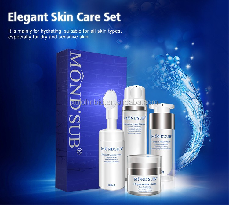 MONDSUB Beauty Skin Care Set Elegant Cleansing Foam Net 100ml And Elegant Activating Essence Net 120ml