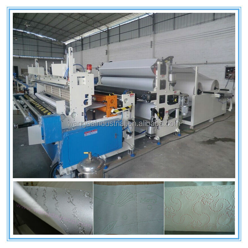 Wangda Industrial Company China Factory Direct Sales Small Toilet Paper Machinery with Structure Wallboard Type