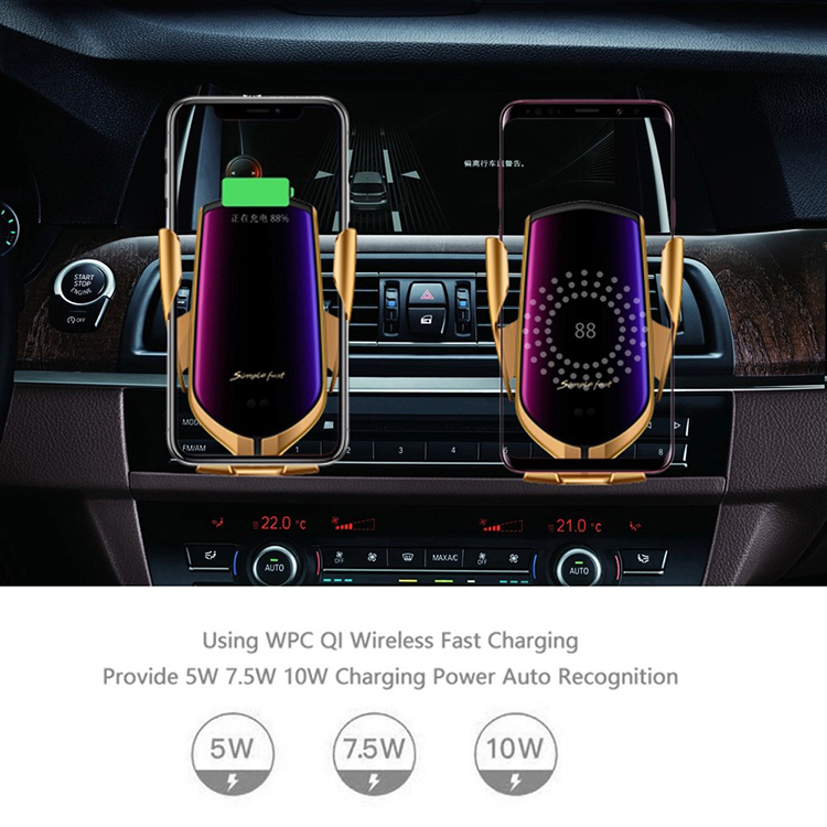 Car Qi Wireless Charger For iPhone XS Max X 10W Fast Wireless Charging for Samsung Galaxy S9 S10 Xiaomi Car Phone Holder Charger