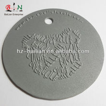 Customize garment pvc reflective label/patch/tag in silver color