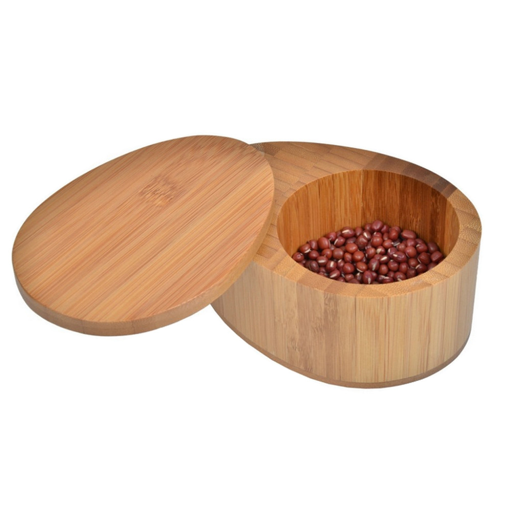 Food safety bamboo/wood salt spice box from hongqiang