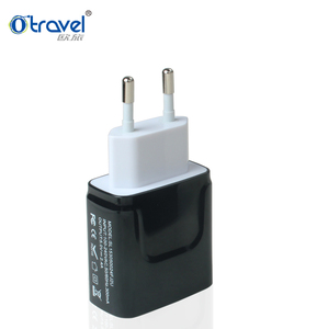 EMC charger USB europe 2017 mobile gadgets SL-153 2 round pin EU plug adapter USB portable charger travelling