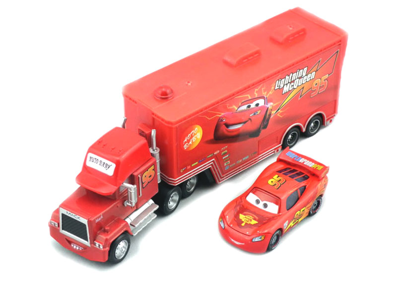 100% Original PIXAR CARS 2 No.95 Mack &  McqueenIN 1:55 Diecast Metal Loose Toy Cars Set