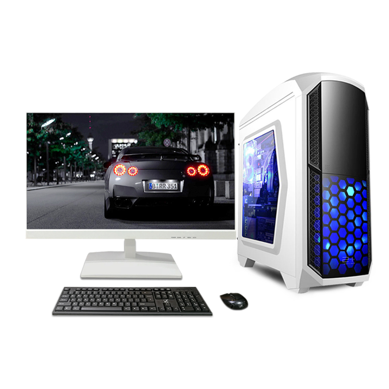 High quality DJS Tech factory support win 10 gamer pc desktop <strong>computer</strong> with 24 inch monitor