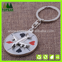 Manufacturers selling creative aviation aircraft rotating compass key chain, business LOGO custom-made gifts