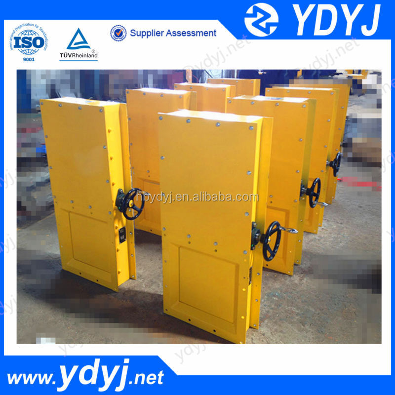 China square manual slide gate valve for manganese powder