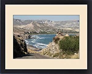 Framed Print of East coast of Baja California, Sea of Cortez, north of La Paz, Mexico, North