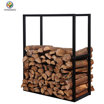 Outdoor Firewood Rack For Fireplace Heavy Duty Wood Stacker Holder Patio
