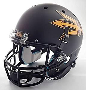 ARIZONA STATE SUN DEVILS Schutt AiR XP Authentic GAMEDAY Football Helmet ASU (MATTE BLACK)