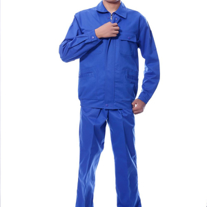 Most popular suitable polyester,cotton blue Coverall Work wear Uniform