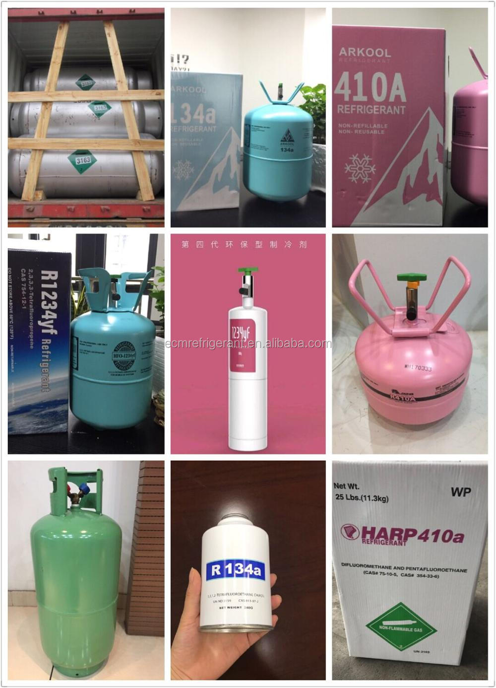 Refrigeration Gas R134a R1234yf R22a Hfc Mixed Refrigerant R410a R404a  R407c R507 - Buy Mixed Gas Refrigerant R410a,Hfc Refrigerant Gas