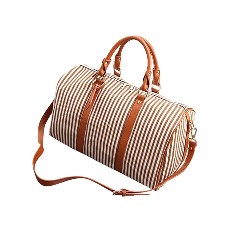 27c19c2f8c SCX Ladies Women Canvas Splice Design Weekender Bag Travel Duffel Tote Bag  Weekend Overnight Travel Bag