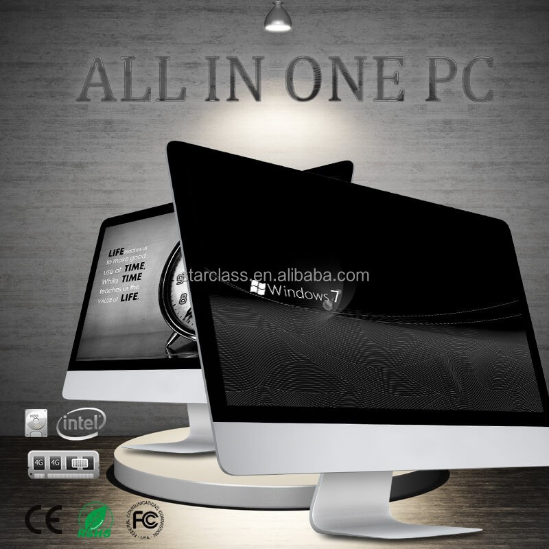 OEM fashion design bulk all in one computer monitors, 4gb ram, 500G HDD for home /office use