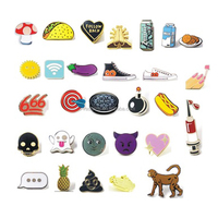 Emoji lapel pins set over 20 items decorative objects hat pin hard enamel badges