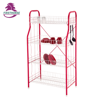 4 tier iron powder coated corner dish draining storage racks DC-464SL