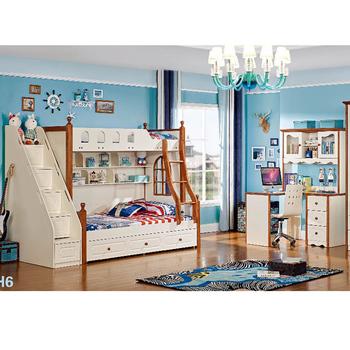 New Design Children Bedroom Set Of Bunk Triple Kids Bed Buy Triple