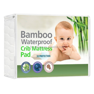Breathable Soft Waterproof Quilt Cot Bamboo Crib Mattress Protector