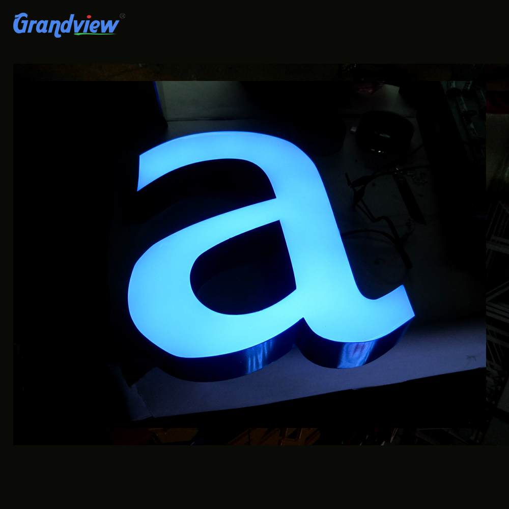 LED Front-lit Acrylic Channel Business Signs acrylic 3d logo design letter