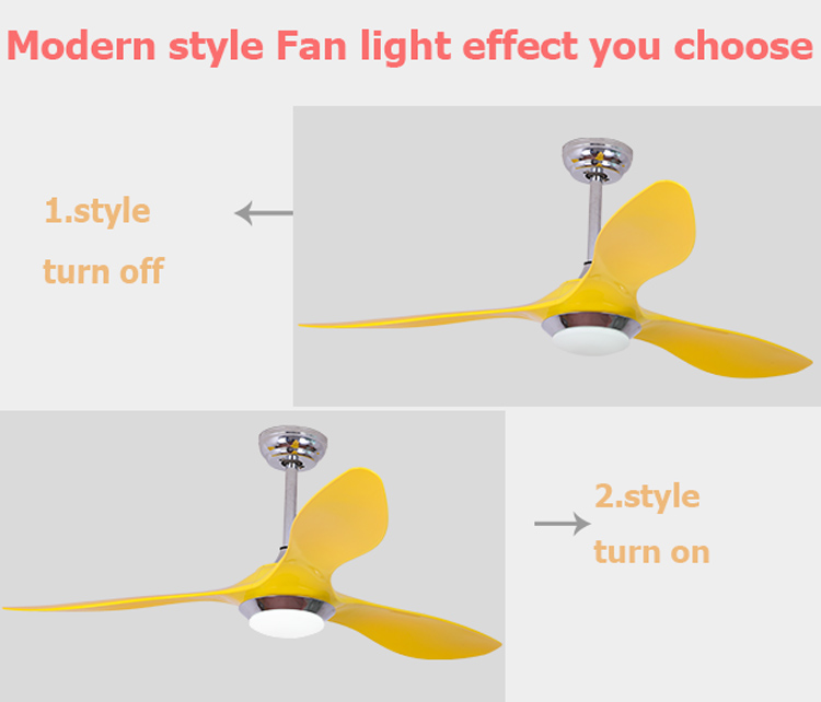 2018 factory price no noise remote control cooling air industrial ceiling fan with 12W led light