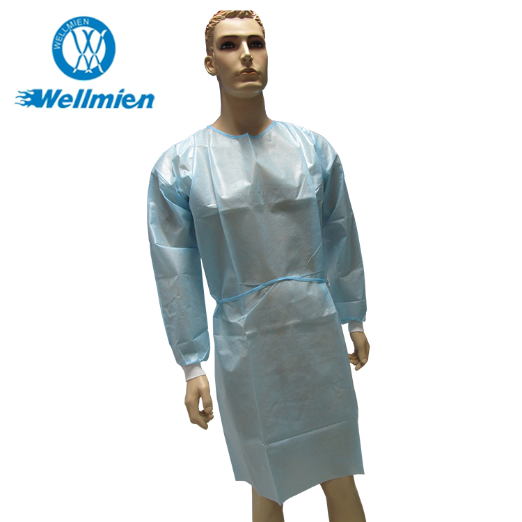 Best quality promotional nonwoven medical gown