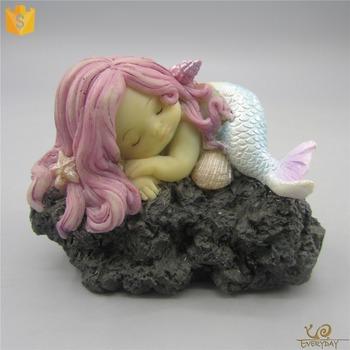 ED10640B Unique Happy Birthday Gift Ideas Resin Mermaid Figurine Best For Girlfriend Lover