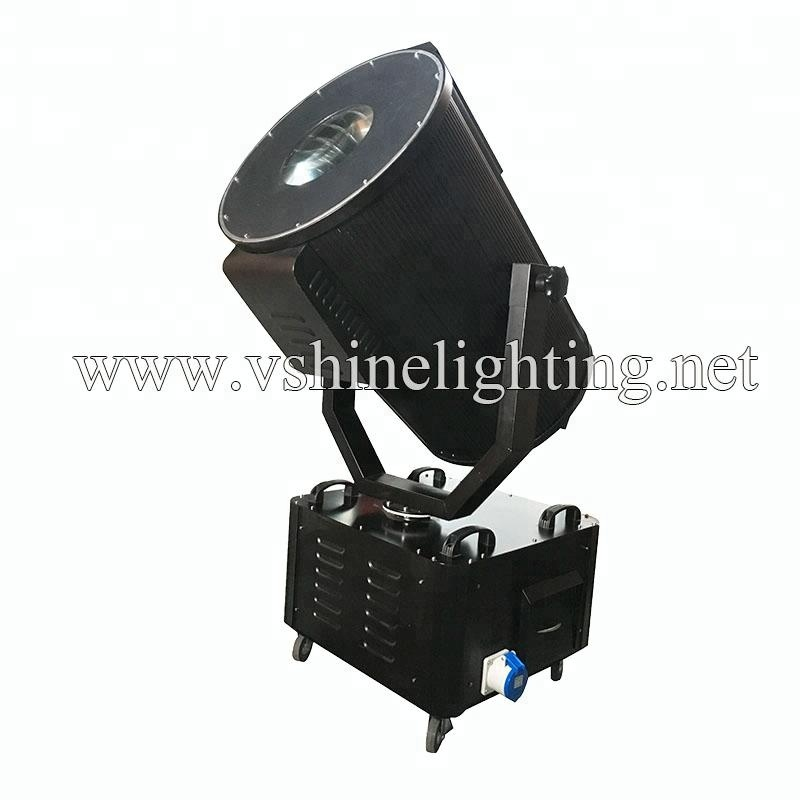 Cmy 2-5KW multicolor changing sky rose search light outdoor sky beam light