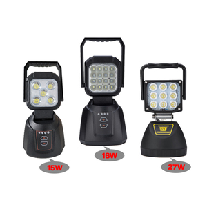 Outdoor SOS flash 12v Portable 15W 16W 27W Rechargeable LED Work Light with Magnetic Base