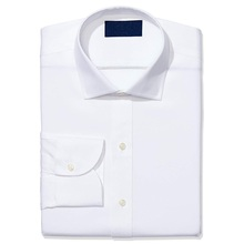 Cvc <span class=keywords><strong>면</strong></span> 모 슬 린 business quality solid white oem custom 망 slim fit office shirt