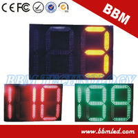 square illuminated digital countdown timing light