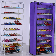 high quality wrought iron shoe rack In the corner