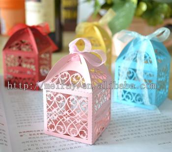 Kids Birthday Party Supplies Souvenir Favor Boxes For Laser Cut Mini Cake