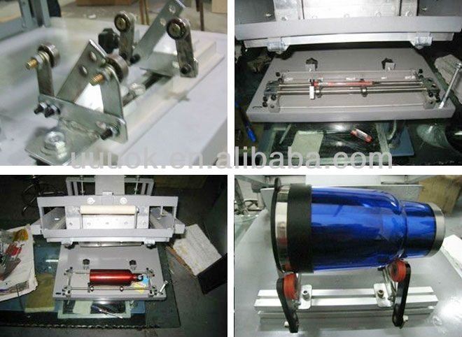 Manual curved surface pen screen printing machine