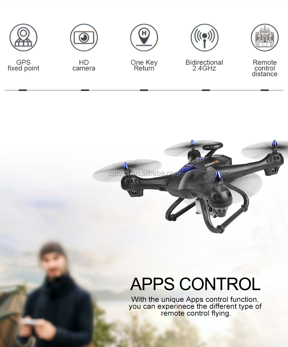 Wholesale 5G WIFI FPV Dual GPS RC drone follow me with 1080p camer high lock function similar brushless motor low battery return