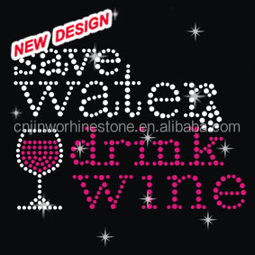 drink clothes new sequin motif hot fix design K 1 47