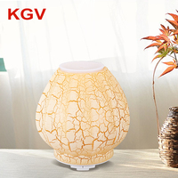 Air Diffuser Wholesale Yellow Glass Ultrasonic Vibrations Oil Diffuser Aroma Essential Factory Price