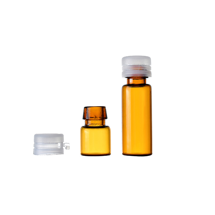 1ml 2ml 3ml 5ml Amber color pharmaceutical glass bottle with tear off cap