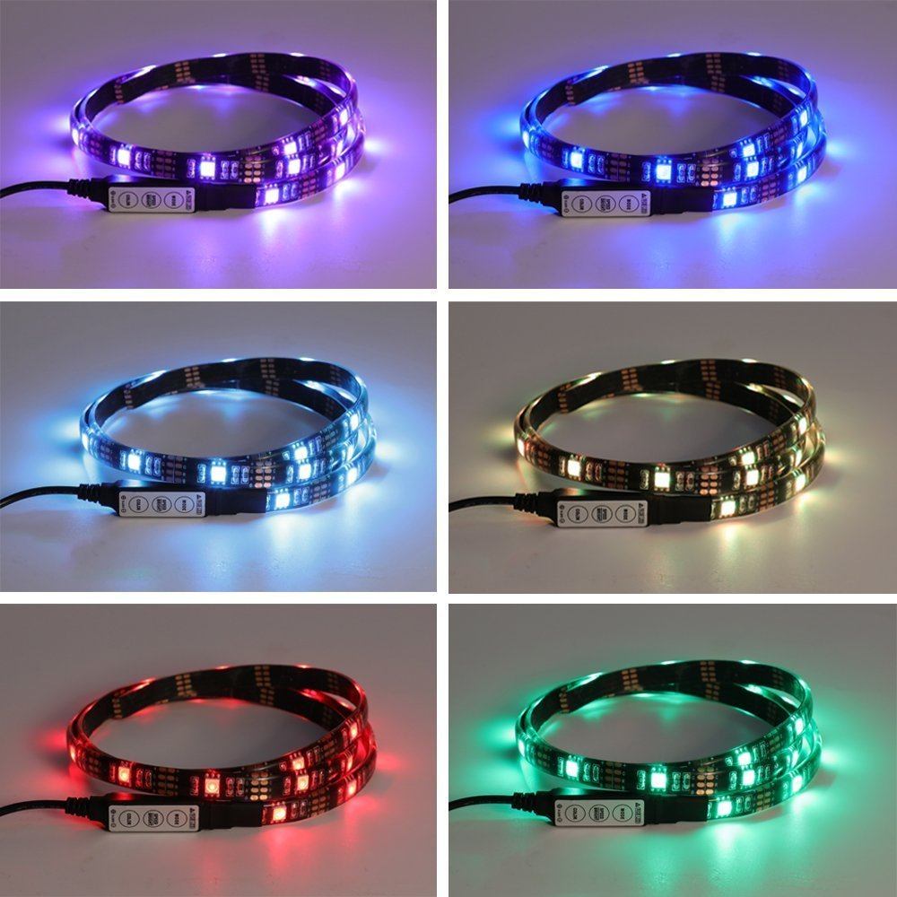 Cheap cabled 6 led lighting strip find cabled 6 led lighting strip get quotations multi colored rgb 100cm 39 inch led strip light bias lighting led flat screen tv aloadofball Choice Image