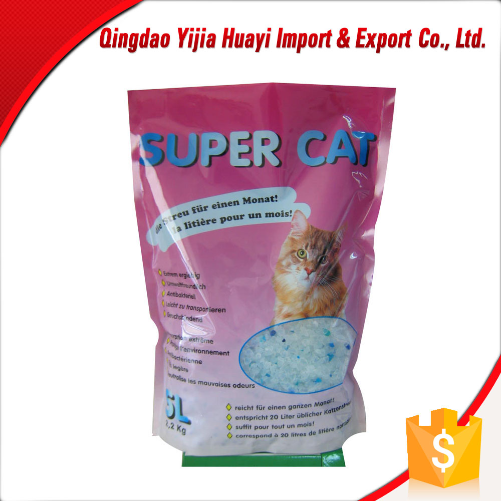 unscent cat litter cat sand/ block-shape silica gel cat sand /economic package bag for cat litter