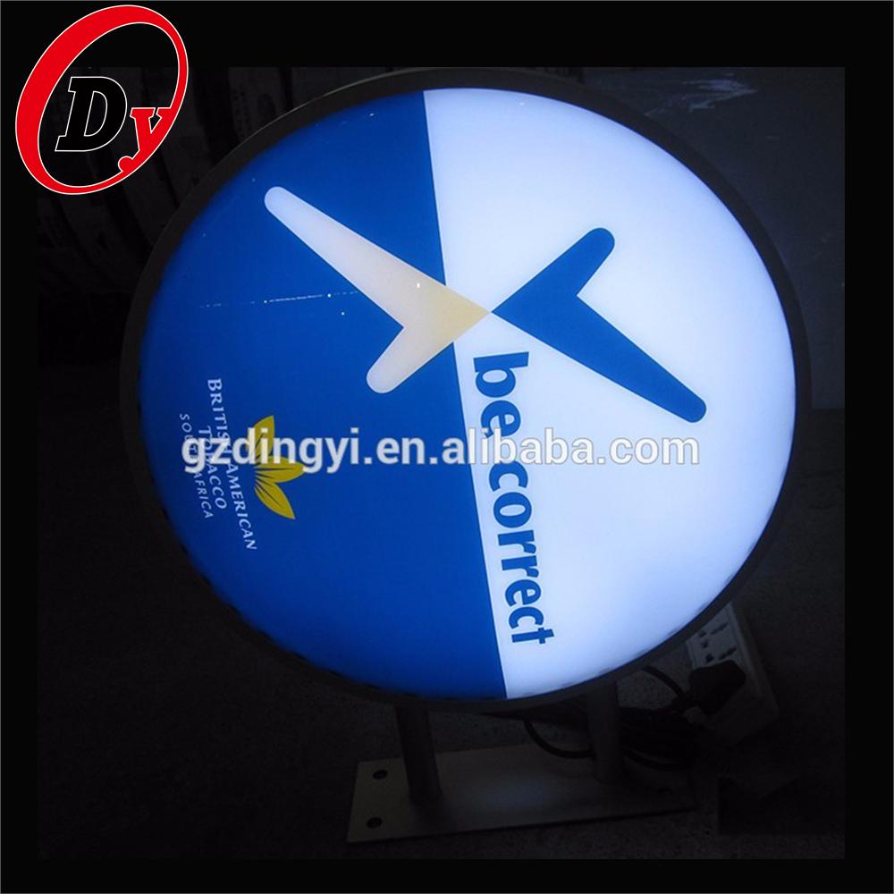 Custom Made Outdoor Acrylic Light Boxes Led 3d Lighted Logo Round Shape  Sign - Buy Round Shape Sign,Edge Light Acrylic Led Sign,Make Light Box Sign
