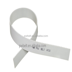 steel cord open ended pu polyurethane AT10 timing belt industrial toothed timing belt