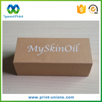 2017 Luxury custom essential oil packaging boxes, essential oil recycled paper boxes Chinese suppliers