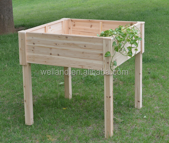 Elevated Garden Planting Tables Natural Cedar Wood Planter