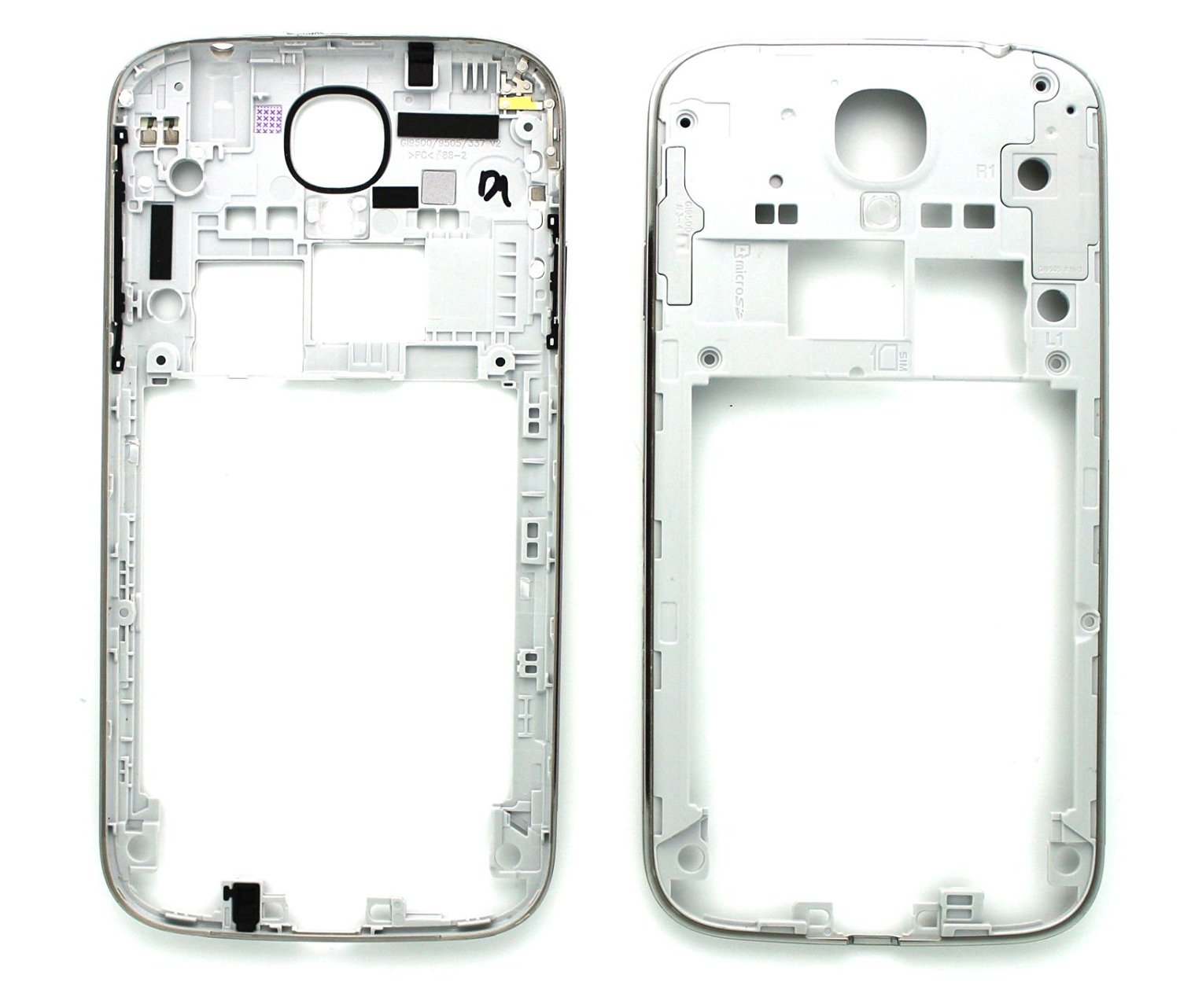 339f7565cdbc Get Quotations · New Silver Back Plate Housing Camera Mid Frame Bezel Power  Button Frame Camera Panel Housing Replacement