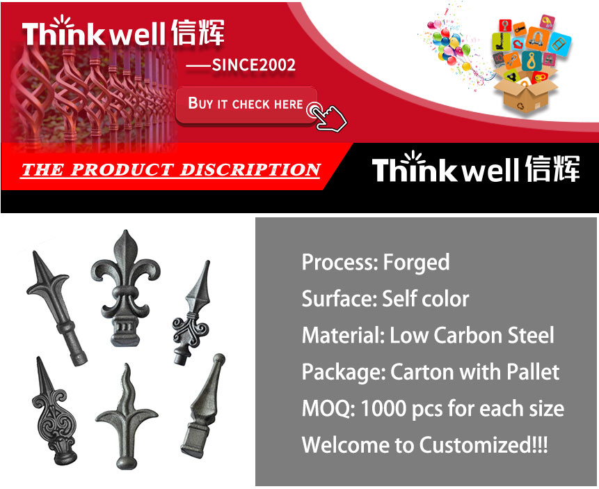 Thinkwell Forged Customized Ornamental Wrought Iron Spearpoint